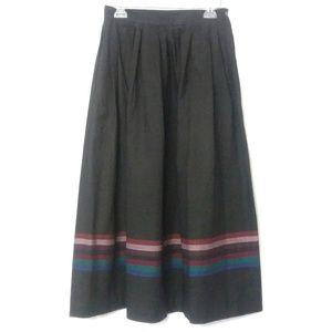 VTG Pleated Maxi Skirt EUC